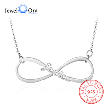 Fine Jewelry Personalized 925 Sterling Silver Infinity Name Necklace Customized Nameplate Pendant (JewelOra NE103332)