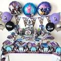 Fortnite детский день рождения вечерние украшения набор для выпечки тортов подставка для бумажного стаканчика, нож, вилка, бумажная тарелка пос...