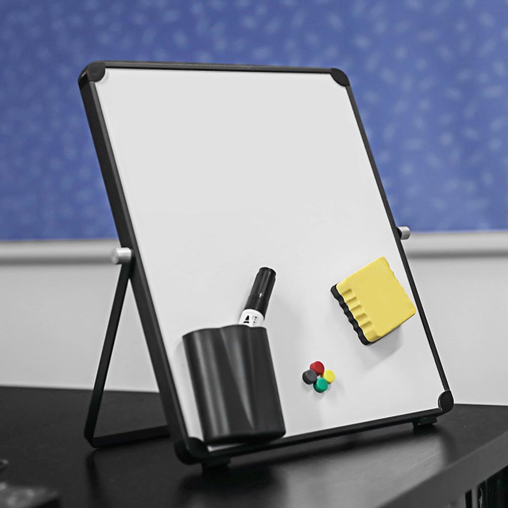 Magnetic Dry Erase White Board Set Aluminum Alloy Foldable Durable WhiteBoard For Kids Online Lessons Office