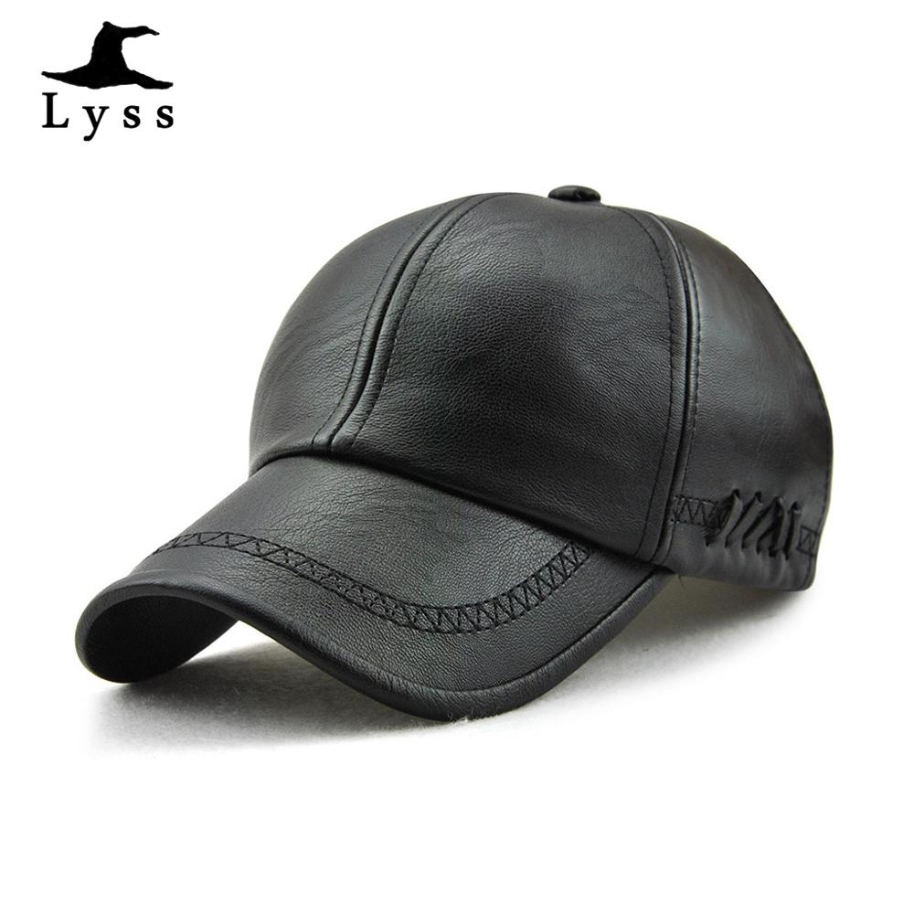 Unisex Adjustable Faux Leather Baseball Cap Snapback Outdoor Sport Hat Solid