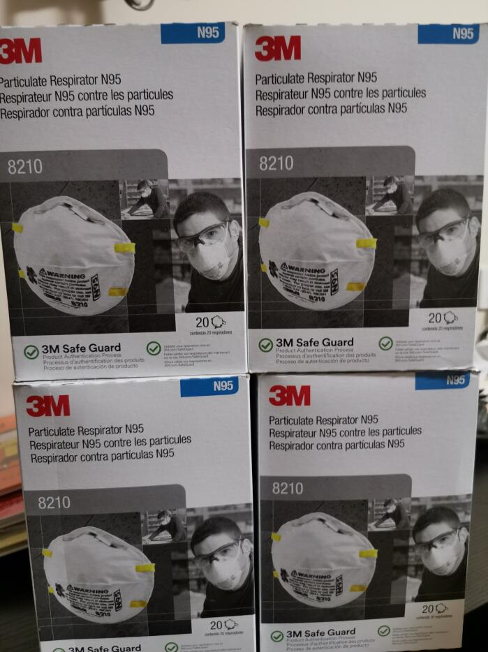 American English Style 3M 8210 FFP2 N95 Anti-fog Haze Dust Protective Face Mask Free By DHL