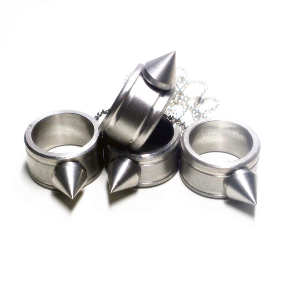 Stainless Steel Self-Defense Ring Defense Thumb Ring Anti Wolf Brass Knuckle Protection Supplies Weapons Outdoor Portable Tools