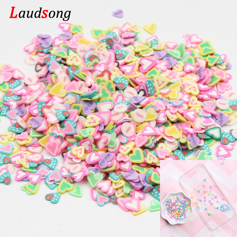 1000pcs Mixed Fruit Heart/Star/Cake Nail Art Resin 3D Decals DIY UV Resin Epoxy Mold Filler For Jewelry Making Tools