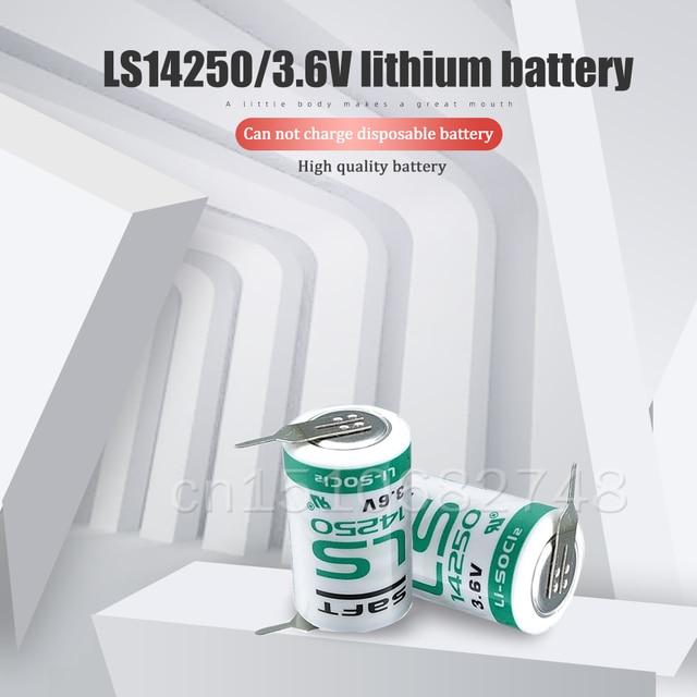 12 pièces/lot Original SAFT LS14250 LS 14250 3.6V 1200mAh 1/2 AA 1/2AA batterie au lithium avec broches pour équipement PLC machine CNC mètre