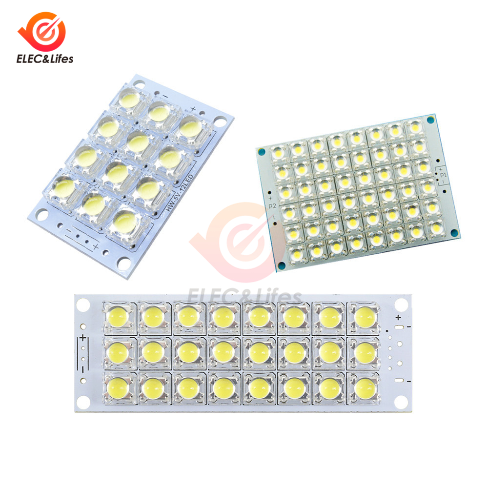 12 24 48 LED Super Bright White LED Piranha Board Night LED Lights Lamp High Brightness DC 5V 12V