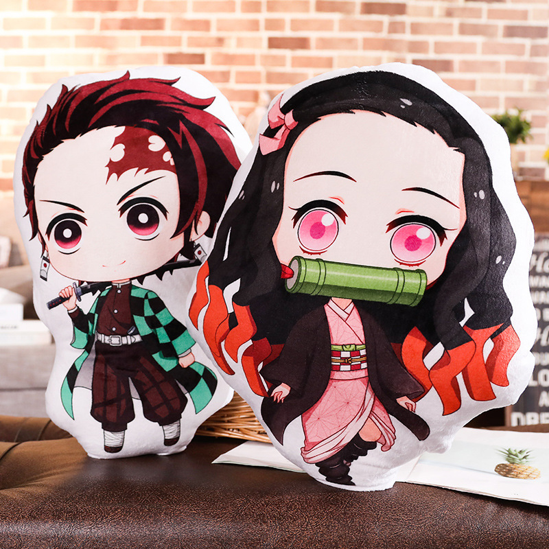 Devil's Blade Japanese Anime Manga Pillow Demon Slayer Kimetsu No Yaiba Nezuko Stuffed Plush Toy Home Decoration Cushion Pillow
