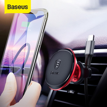 Baseus Magnetic Car Holder For Mobile Phone Magnet Air Vent Mount Holder Stand for iPhone Xiaomi Car Phone Holder Cable Clip