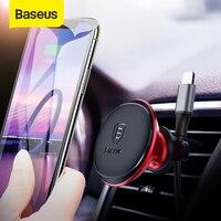 Baseus Magnetische Auto Halter Für Handy Magnet Air Vent Halterung Halter Ständer für iPhone Xiaomi Auto Telefon Halter Kabel clip-in Handy-Halter & Ständer aus Handys & Telekommunikation bei