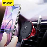Baseus magnético titular do carro para o telefone móvel ímã de ventilação de ar montagem titular suporte para iphone xiaomi telefone do carro cabo clipe