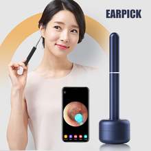 Ear Wax Removal Endoscope Wireless Smart Ear Wax Pick Cleaning Tool with Built-in Camera Compatible with IOS & Android SK88