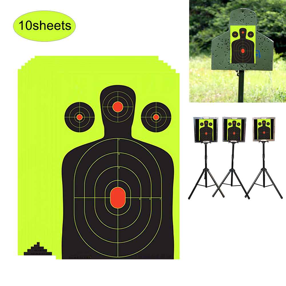 10/100 Pcs Splash Flower Target Shooting Targets Paper Adhesive Reactivity Shoot Target Aim Hunting Training Target Sticker