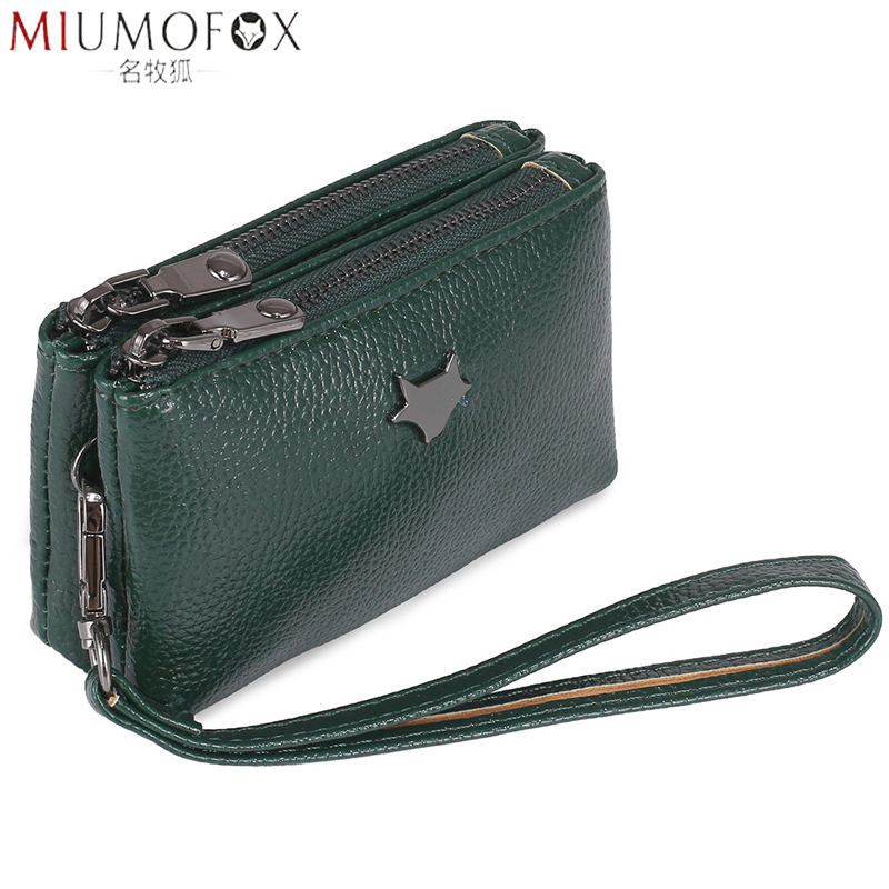 Luxury Wristlet Women Small Wallet And Purse Girls Short PU Leather Credit Card Holders Wallets Ladies Coin Purses Double Zipper