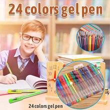 24 pz/scatola disegno pittura pennarelli colore metallico penne per carta nera arte forniture pennarelli cancelleria materiale Escolar