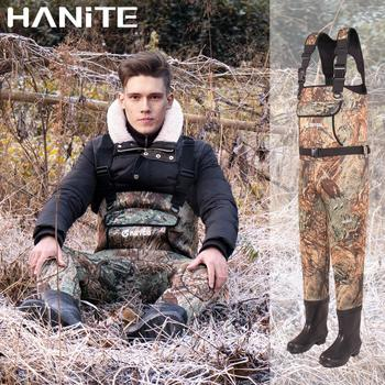 HANITE 5mm Waterproof Thermal  Neoprene Wader with Rubber Boots for Fishing, Hunting, useful in rainy,snowy and flood weather 4