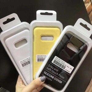 Image 3 - Funda de silicona líquida Original, funda suave y sedosa para Samsung Galaxy S10 Lite/S10E S8 S9 NOTE 8 9 10 con caja