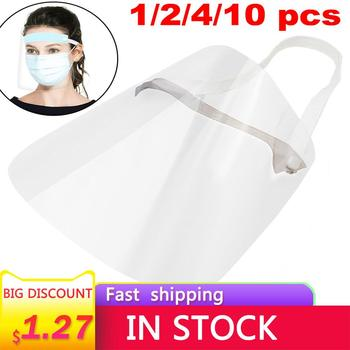 1/2/4/10PC Full Face Shield Mask Clear Flip Up Visor Protection Safety Work Guard For Droplet, Dust,Oil Fume