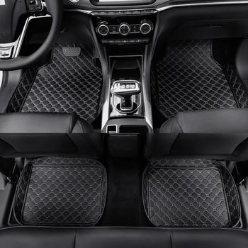 Universal car floor mats for Renault kadjar Koleos Megane Laguna Fluence Captur Latitude Leather floor mat Accessories carpet