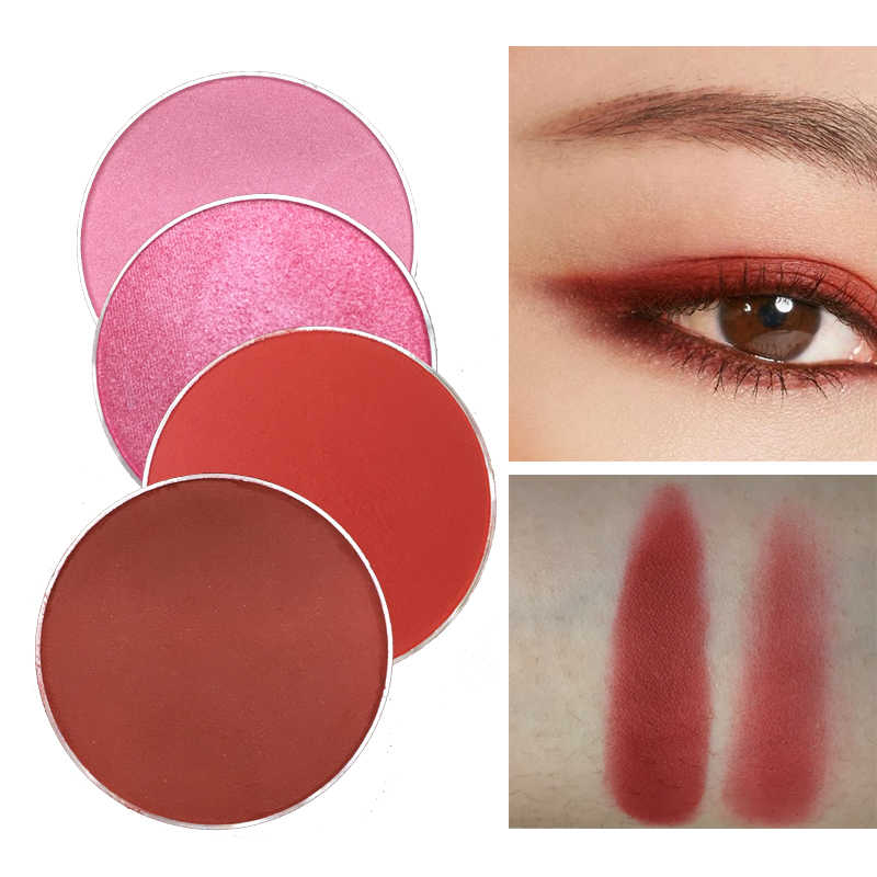 11.11 Merah & HITAM DIY Menawan INS Merah Eyeshadow Glitter Pigmen Tahan Air Berwarna Merah Muda Matte Eyeshadow Kecantikan Make Up Kosmetik Pallet