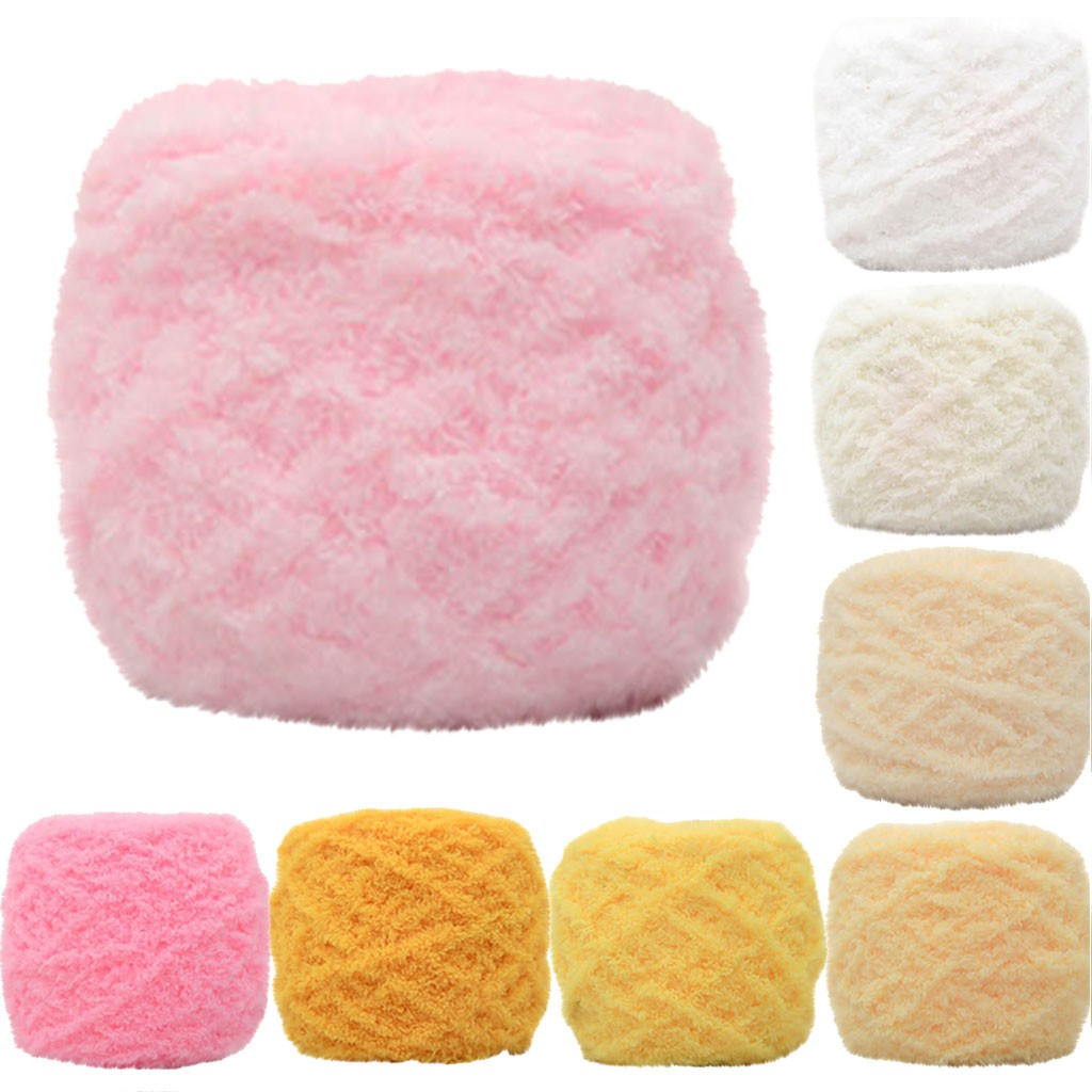100g//PC Natural Worsted Soft Baby Cotton Yarn Coral Fleece Coral Velvet Crochet