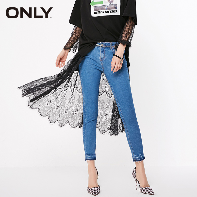 ONLY Womens Low-rise Skinny Crop Jeans| 119149556