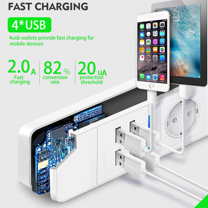 Image 4 - Wifi Power Strip Surge Protector Eu Stopcontacten Timer Voice Afstandsbediening Werkt Met Echo Alexa Google Thuis