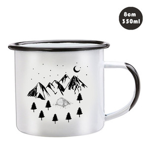Image 3 - Stainless Steel Camping Coffee Mug Birthday Christmas Outdoors Metal Enamel Campfire Cup Custom Milk Enamel Mugs