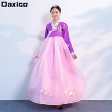2020 традиционное платье hanbok с вышивкой женская свадебная