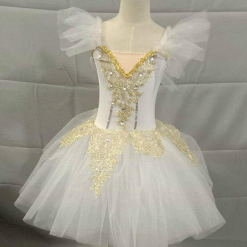 Étincelant longue ballerine robe enfant enfants Style romantique Ballet danse Costume pour femmes filles doux Tulle Tutu gymnastique justaucorps