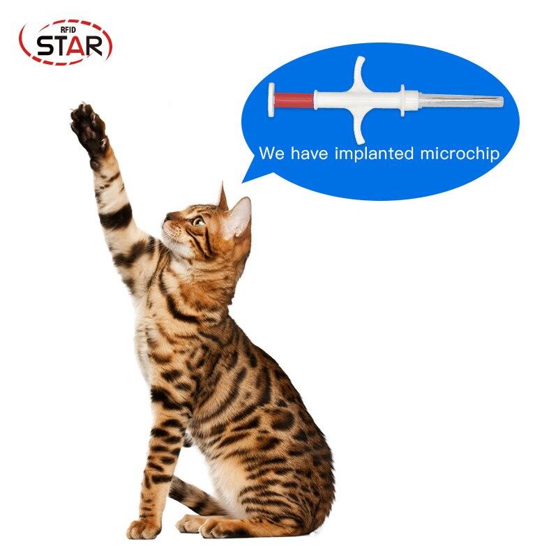 50pcs  Standard Animal Microchip Rfid Syringe 1.4x8/2x12/1.25x7mm Dog Chips Pet Injector Sterile Cat Sheep Syringe Microchip