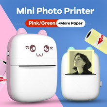 Portable Mini Wireless Thermal Photo Printer Pocket Cute Sticker Printers Paper Roll For Android iOS DIY Home Use Notes Printer