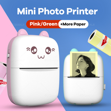 Sticker Printers Paper-Roll Pocket Thermal-Photo-Printer Ios Diy Mini Portable Cute Wireless