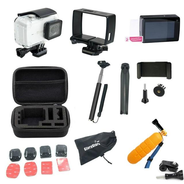 GloryStar for Xiaomi yi 4k Accessories Set for Xiaomi Yi Lite xiaomi yi 4k plus yi Case Monopod Tripod 30M Waterproof Case Mount