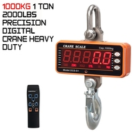 2019 Precision Digital Crane Heavy Duty Hanging Hook Scales 1000KG/1TON 2000LBS Weighing Scales Measurement Analysis Instruments