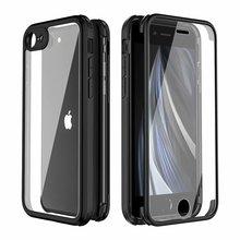 עבור iPhone SE (2020),iPhone XR XS X 11 פרו מקסימום מקרה, 360 מלא הגנה כפולה שכבה מחוספס מובנה מסך מגן זכוכית מקרה