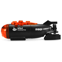 Mini Micro-Radio Remote Control RC Submarine Ship Boat With Led Light Toy Gift