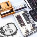 Набор для эскизов, профессиональный набор для фотографий, деревянные пеналы для карандашей для художников, школьников, ранцы для рисования