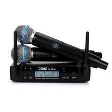 GLXD4 UHF беспроводной микрофон профессиональный BETA58A BETA 58A Ручной беспроводной микрофон с приемником для караоке-громкоговорителя