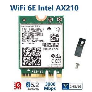 3000 Мбит/с WiFi 6E Intel AX210 Bluetooth 5,2 Беспроводная M.2 WiFi карта AX210NGW AX200 двухдиапазонный 2,4G/5 ГГц 802.11ac/ax Wi-Fi 6