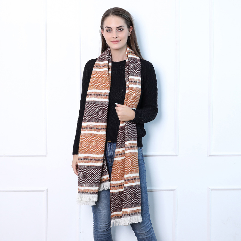 Manufacturers Wholesale 2019 Europe And America New Style England Faux Cashmere Double-Sided Plaid Scarf Autumn & Winter Warm Cu