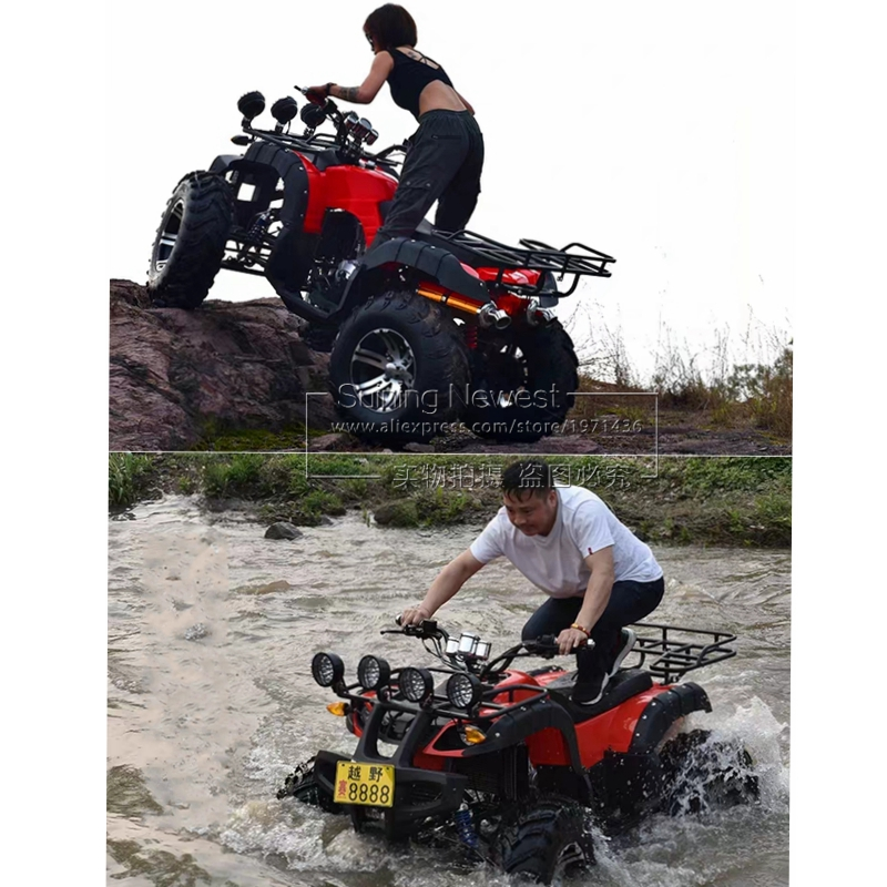 250CC Gasoline Powered ATV Quad Bike Mtb Adults Ride Off Road Motorcycle Farm Vehicle Beach Car 4 Wheels Racing Bicycle
