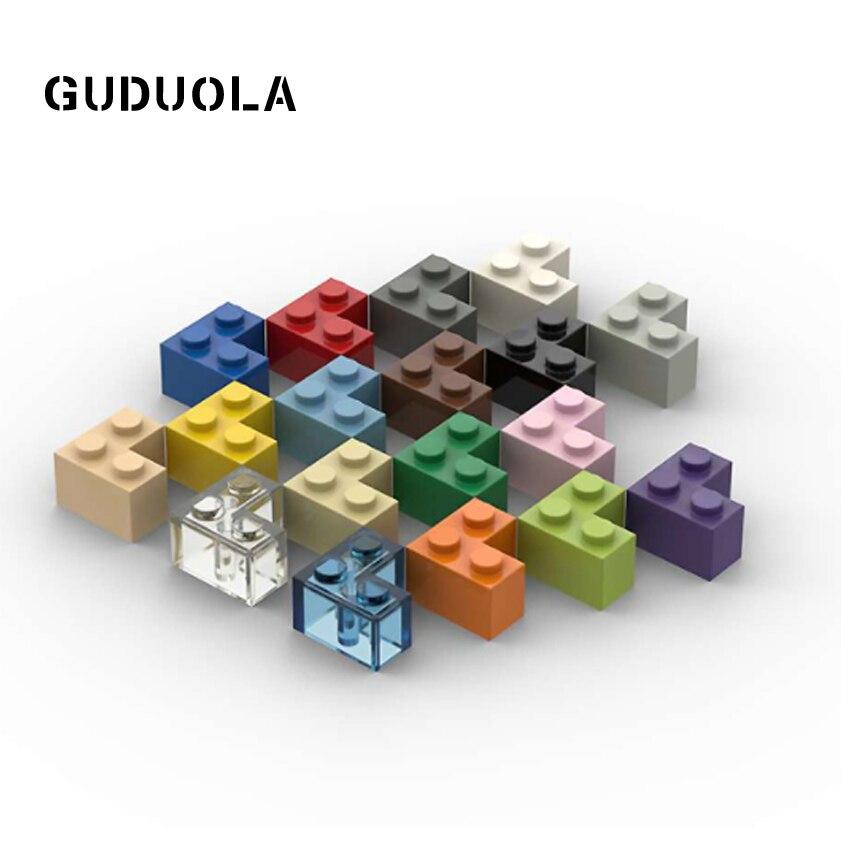 Guduola строительный Blcok Кирпич 2x2 Угол 2357 MOC детали сборки игрушки кирпичный угол 1x2x2 тональный кирпич высокий кирпич 30 шт./лот