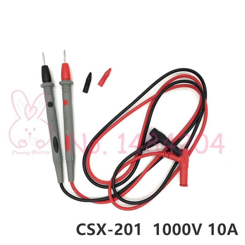 Fils de Test universels, 1 paire, pour la sonde de câble de plomb pour multimètre, 1000V 10A, embout daiguille SMD, SMT et fiche banane 4mm