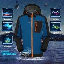 Мужские водонепроницаемые походные куртки гидрофобная одежда уличная дышащая походная рыбалка с капюшоном куртки Анти-УФ кожа пальто# D