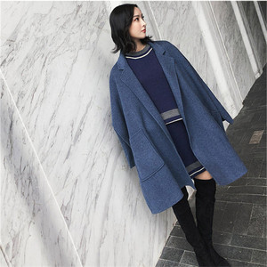 Image 2 - 2019 nouveau automne et hiver laine veste femmes en vrac coréen cachemire manteau mi long laine manteau femme NS1449