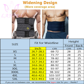 LANFEI Mens Thermo Neoprene Body Shaper Waist Trainer Belt Slimming Corset Waist Support Sweat Cinchers Underwear Modeling Strap 6