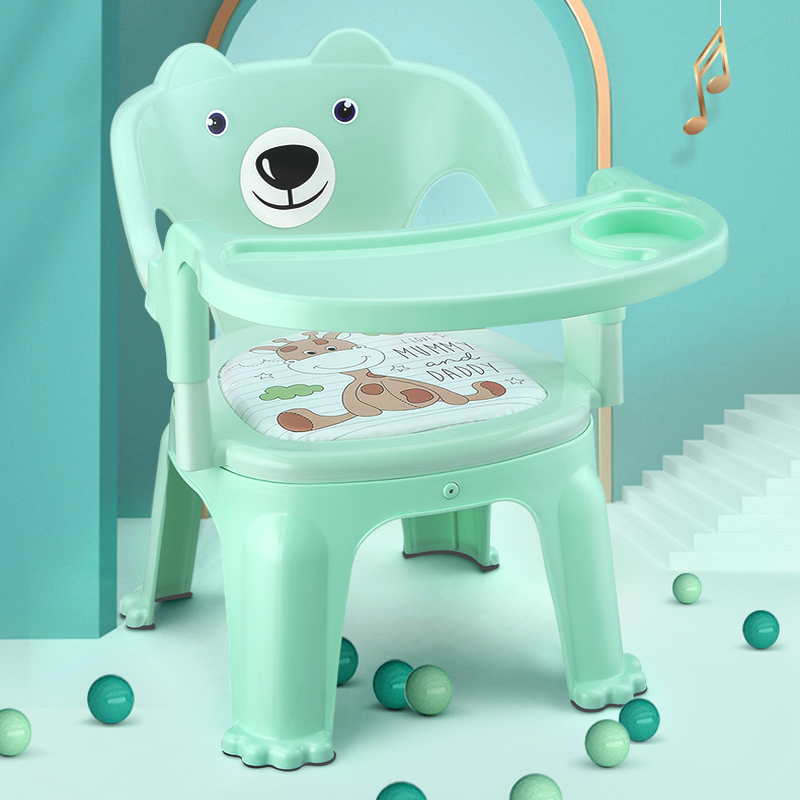 New Child Chair Back Call Called Chair Male And Female Baby Small Bench Baby Voice Seat Home Kindergarten