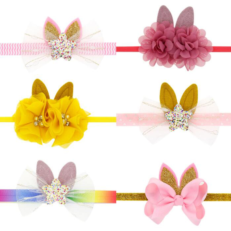 TWDVS Easter Children Decoration Headband Batch Baby Holiday Decoration Bunny Ears Head Rope Children's Party Hair Accessories