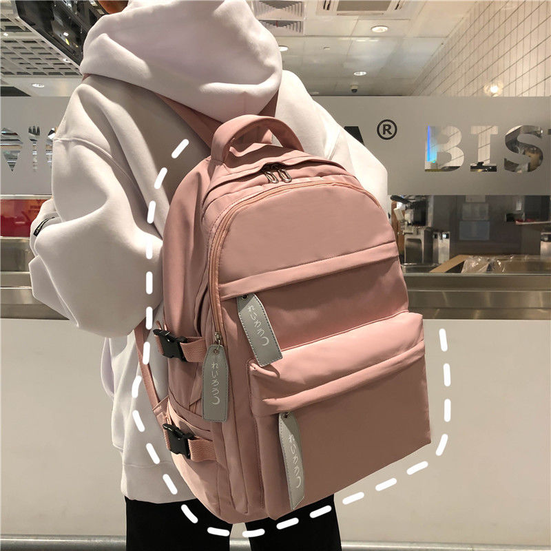 Teen School Bags For Girls Backpack Women Pink Teenage Student Bookbags Big Capacity Nylon Waterproof Junior High Bag School New