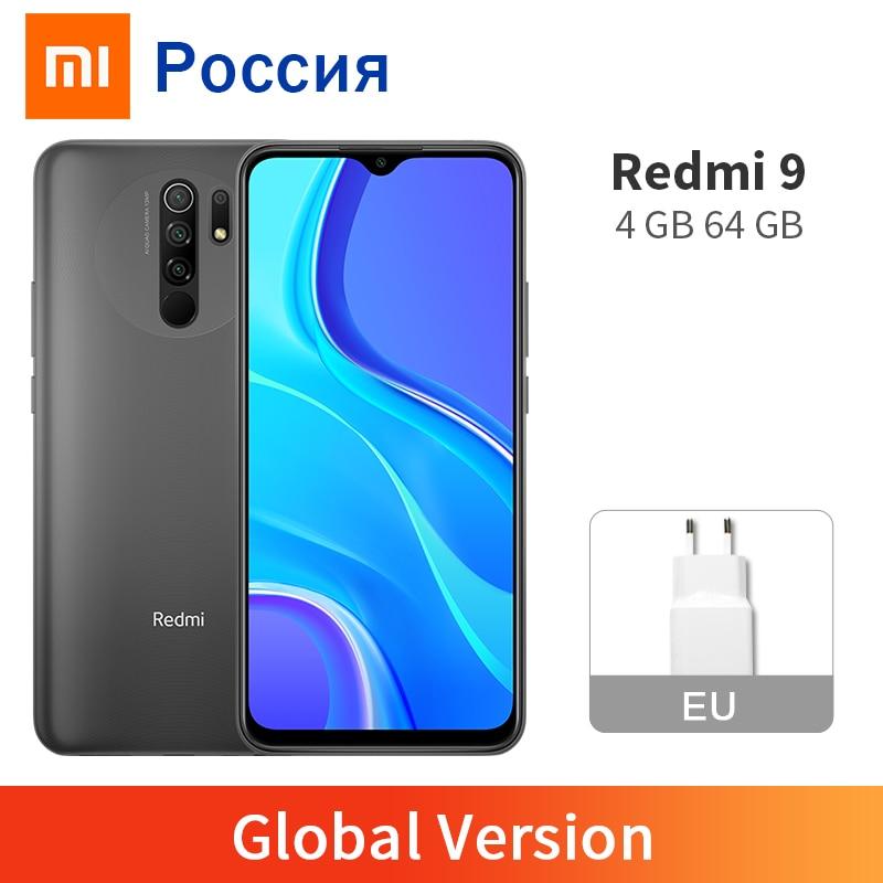 "Xiaomi Redmi 9 4GB 64GB Global Version Mobile Phone 13MP AI Quad Camera Helio G80 5020mAh Big Battery 6.53"" FHD+ Display(China)"