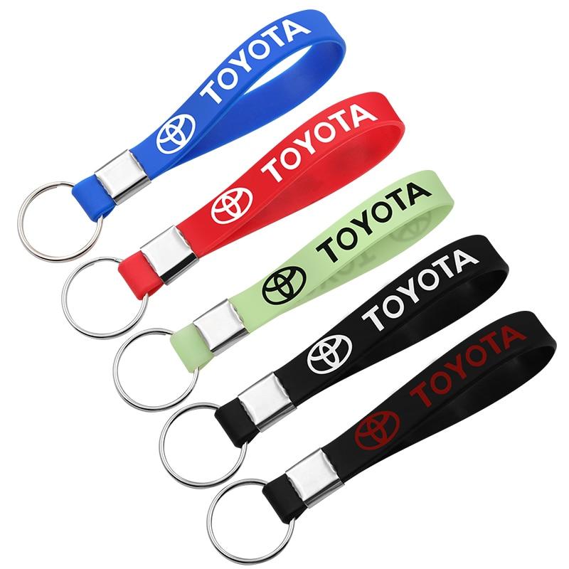 1 PCS Silicone Luminous Keychain Car Key Ring Key Chain For Toyota Corolla Chr Auris Rav4 Yaris Avensis Car Styling Accessories